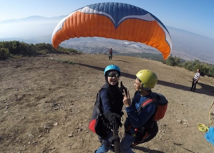 Pamukkale Paragliding Take Off
